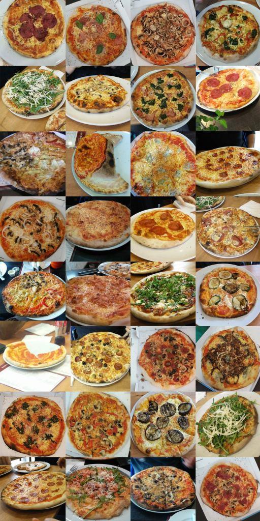 Das große Gargano Pizza Memory: Einfach Spielkartenbogen zweimal ausdrucken, alle 64 Spielkarten ausschneiden, auf Bierdeckel kleben und los geht der Spielspaß!